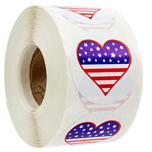 Other - 500 American Flag Heart Design Stickers Patriotic